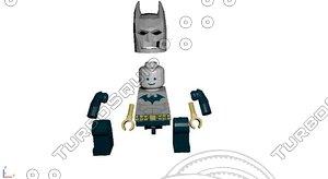 batman lego 3d model