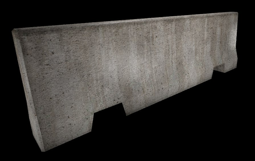 3d model concrete roadblock