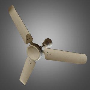 ceiling fan ready 3d obj