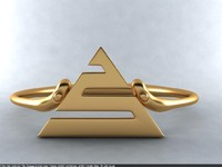 3d model egypt ring