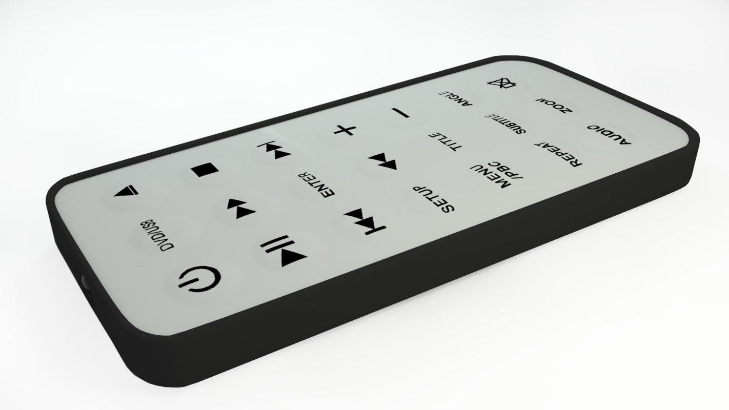 dvd remote control 3d model