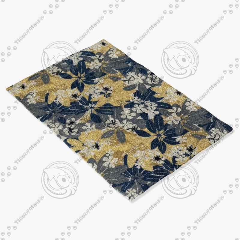 chandra rugs alf-2104 3d max