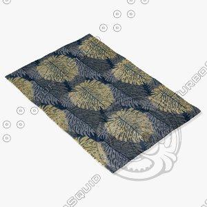chandra rugs alf-2109 3d model