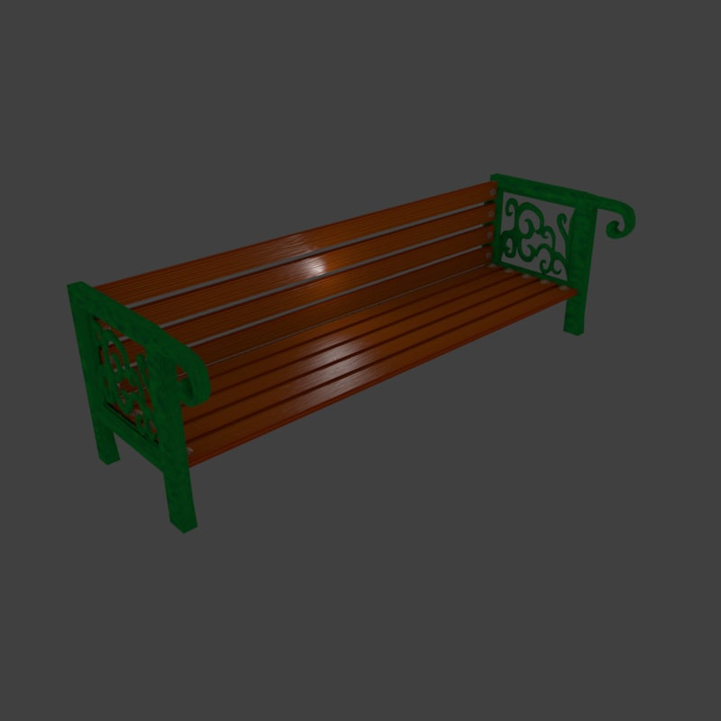 3ds park bench