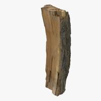 Cutted Wood Log  Low poly game scan vray weapon