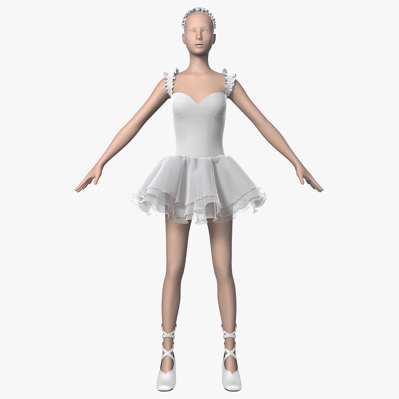 dress ballerina 3d model