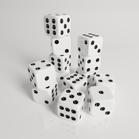 gambling dice 3d model