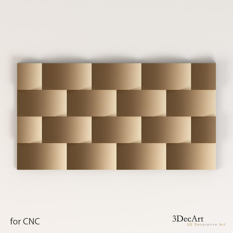 free wall panel 3d model