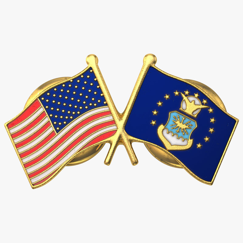 3ds air force flag pin
