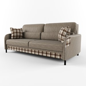3d model sofa pillows decorative inserts
