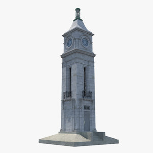 clock tower 3d max