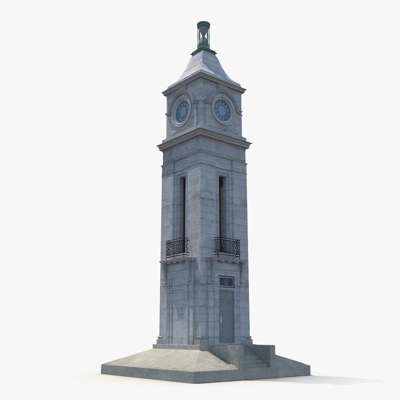 clock tower 3d max