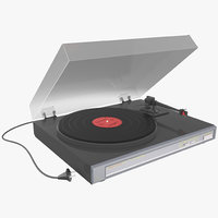 retro turntable obj