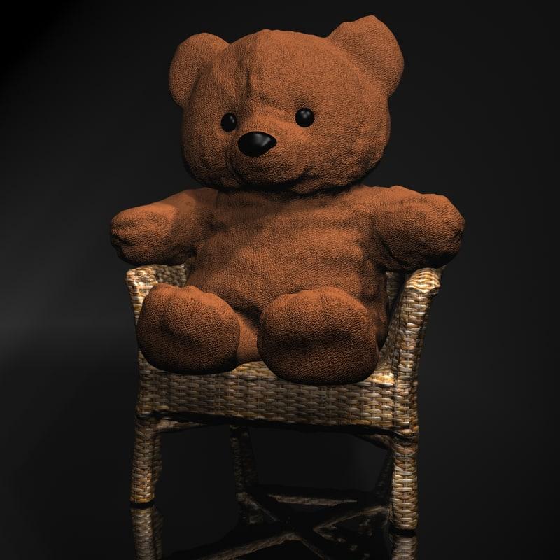 3d teddy bear chair