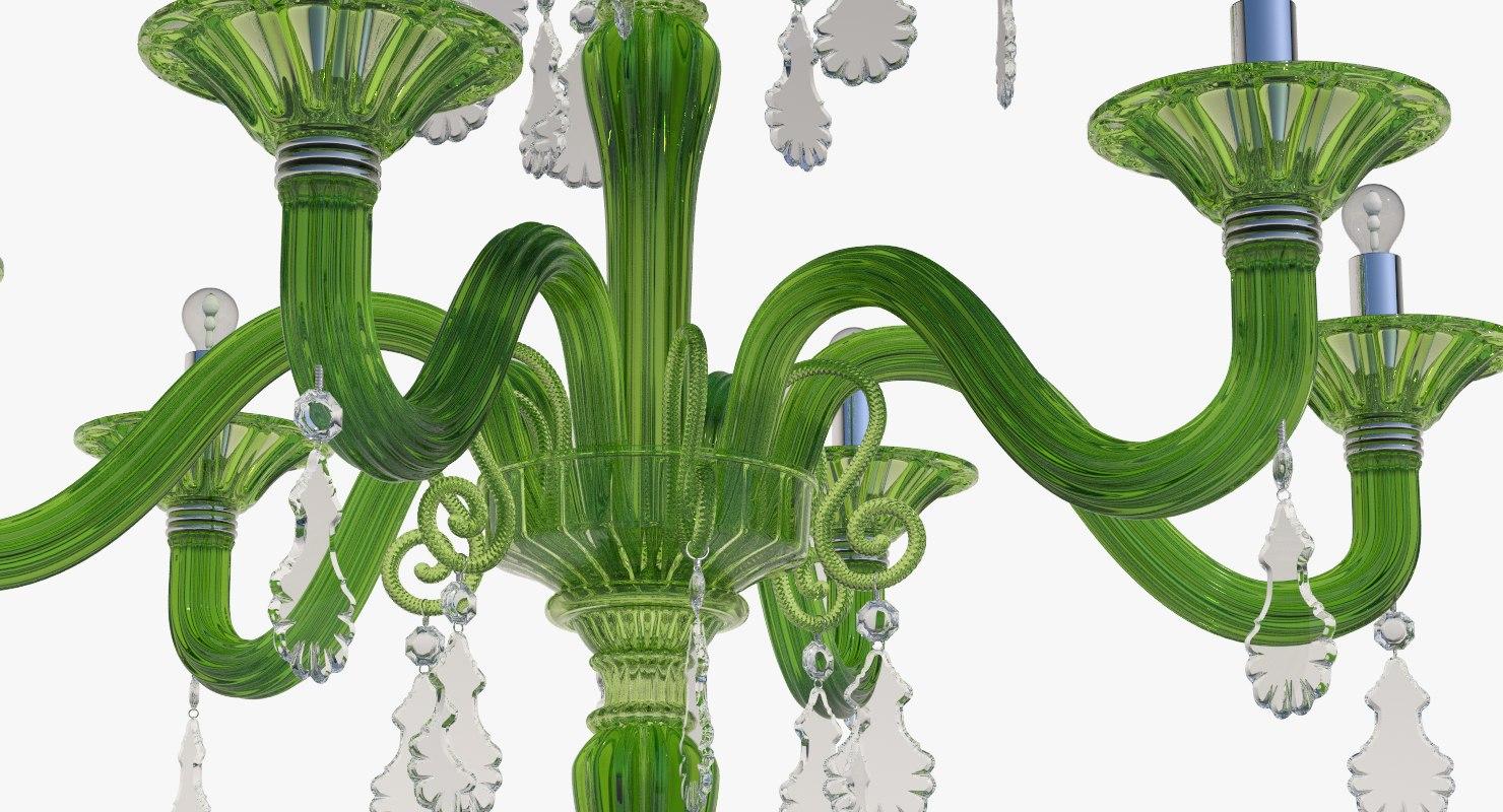 3d chandelier torpedo taif green