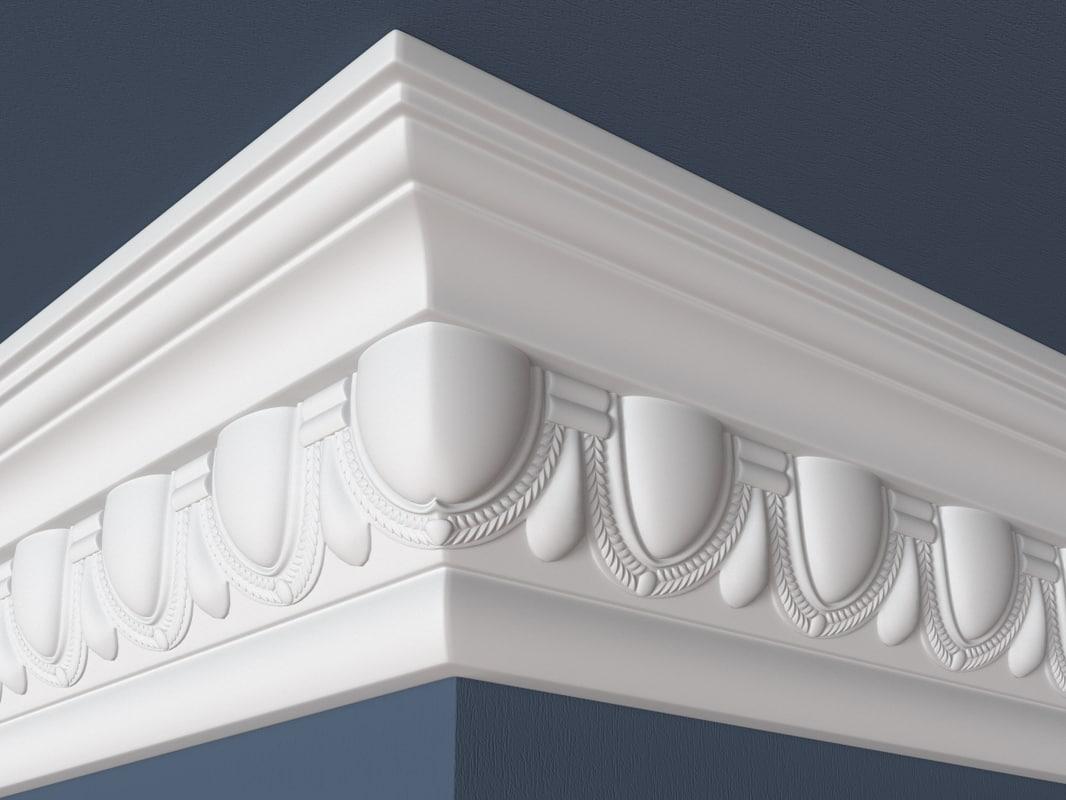 decorative molding 3d max