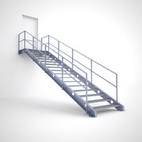 3d metal stair model