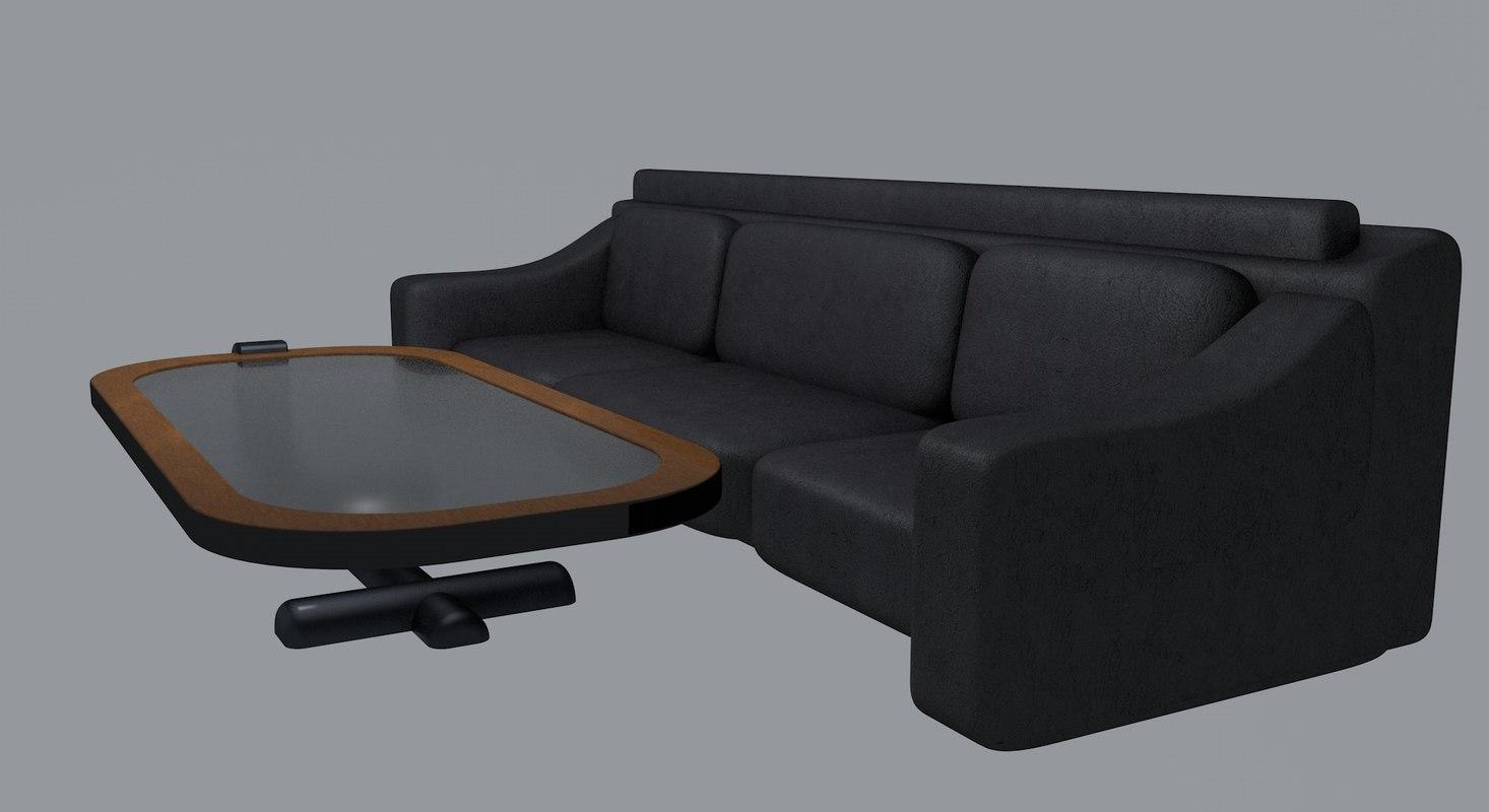 table sofa 3d model