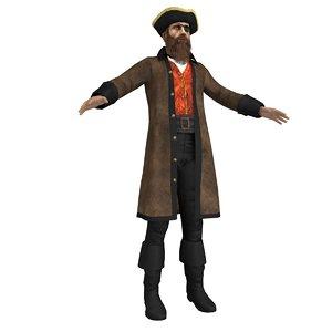 pirate captain 3d max