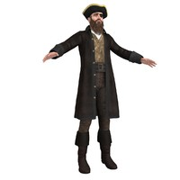 3d model pirate captain