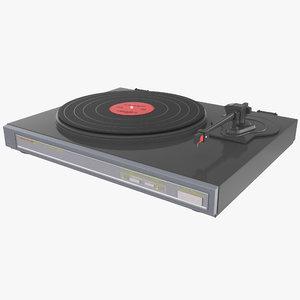 3d retro turntable 2