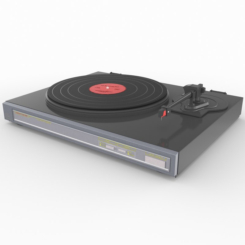 3d retro turntable 2