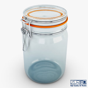 3d model jar herm fido 1