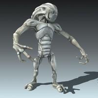alien robot rig 3d max