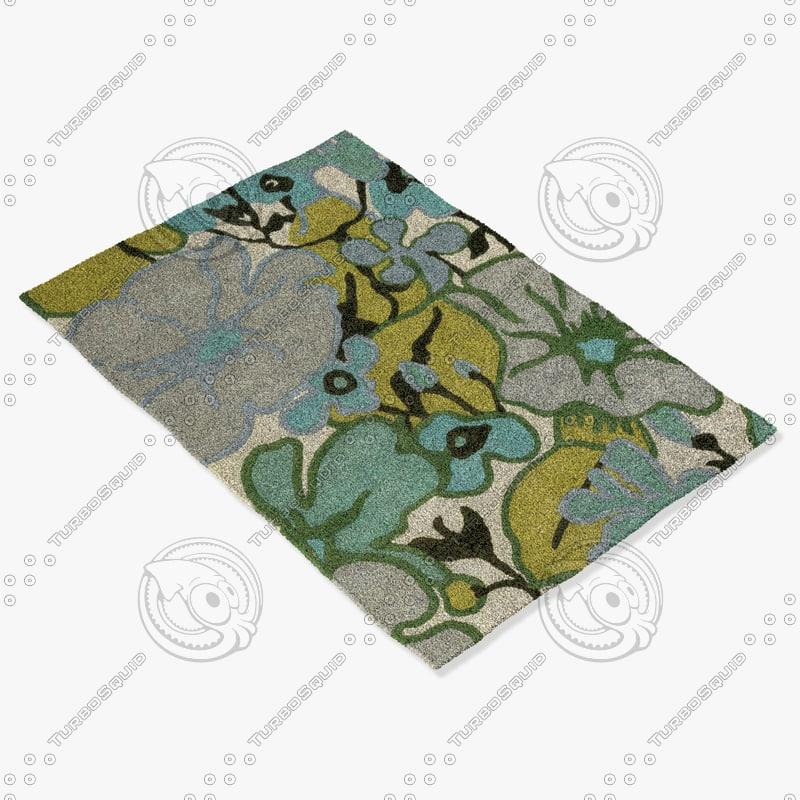 chandra rugs amy-13209 3d model