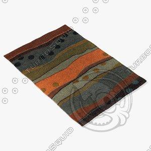 3d model chandra rugs ant-117