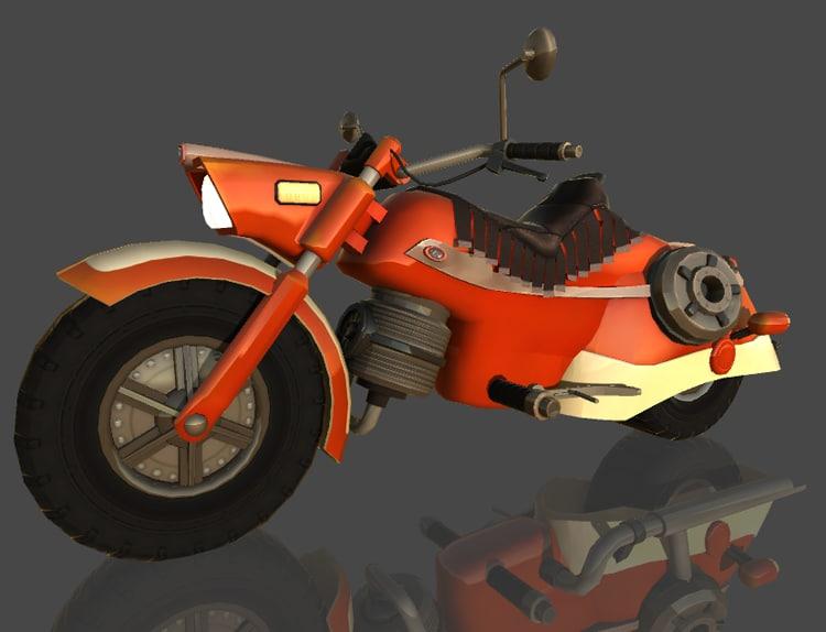 3d model motorbike moto classic