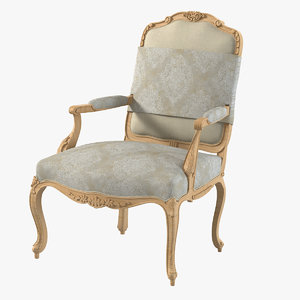 dauphine 900-m chair 3d obj