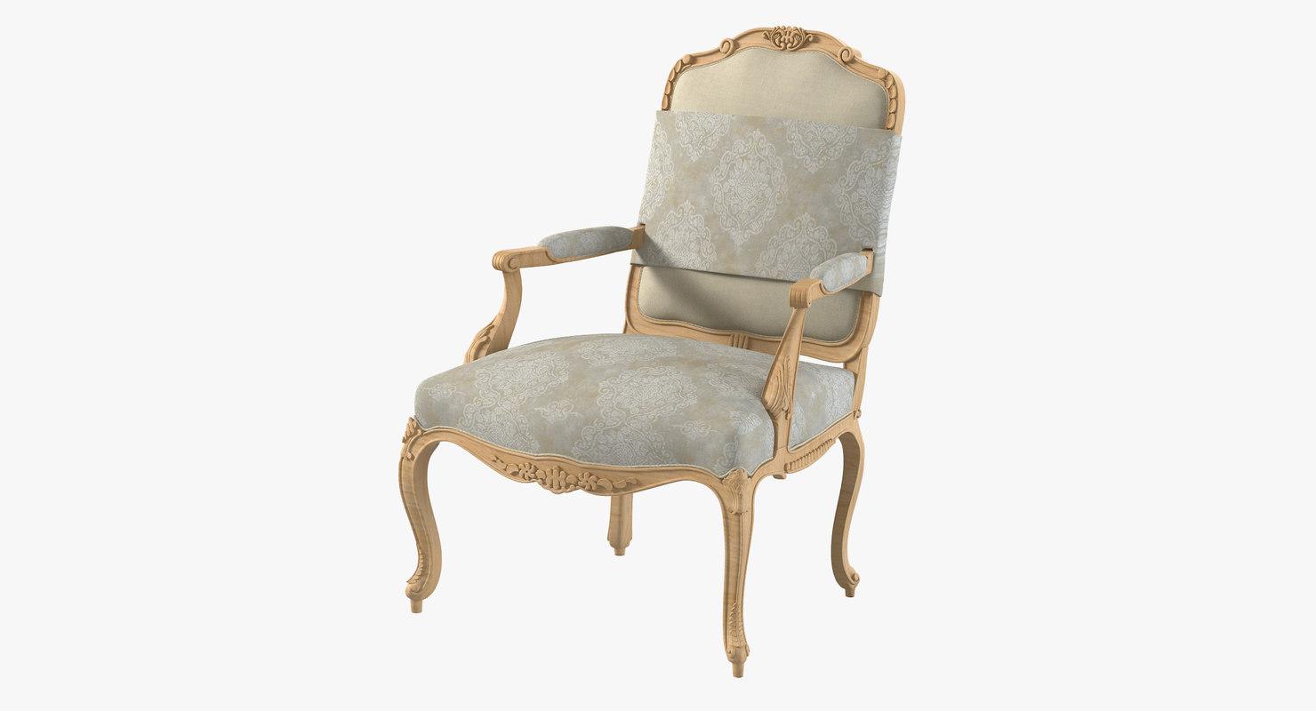 dauphine 900-m chair 3d obj