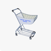 3ds max airport shopping trolley