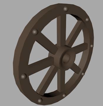 3ds wooden wheel