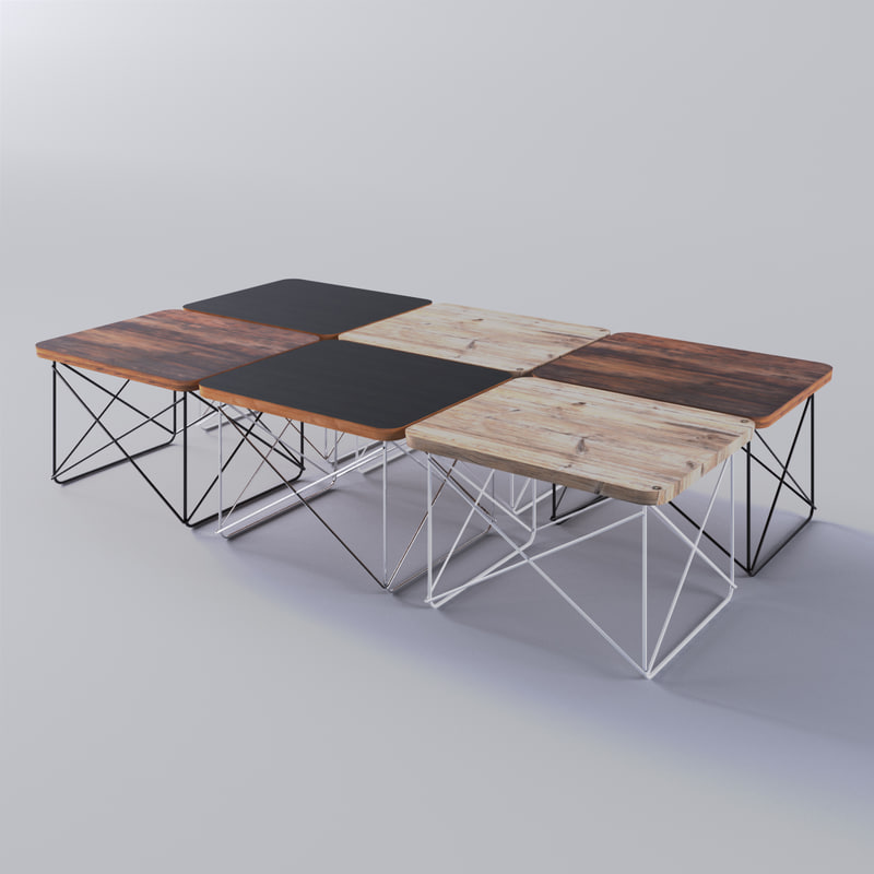 3d eames wire-base table