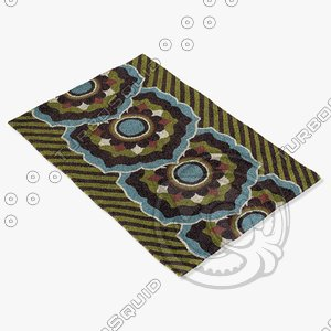 chandra rugs dha-7534 3d max