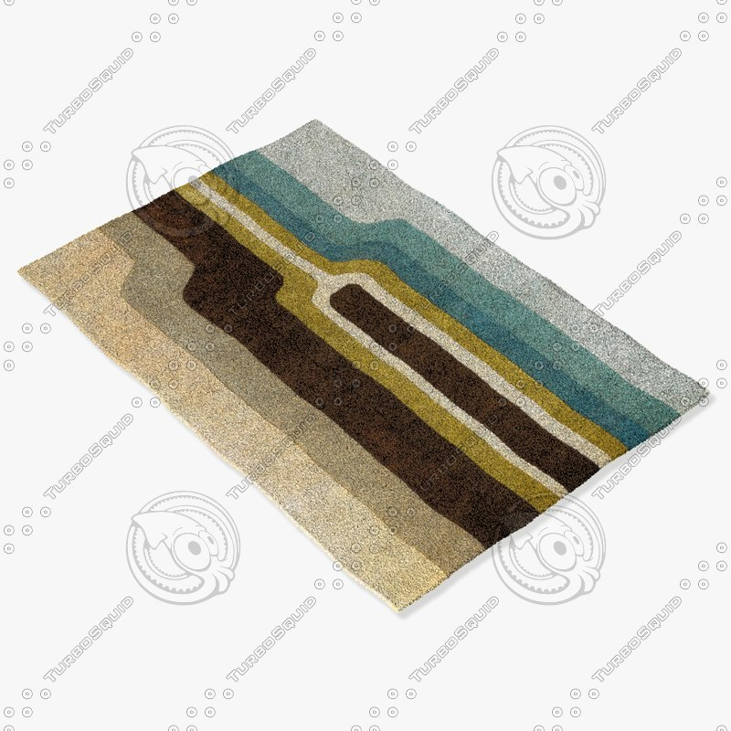 chandra rugs far-6207 3d model