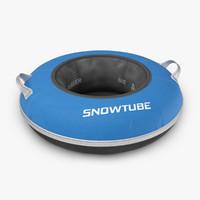 3d model snow tube