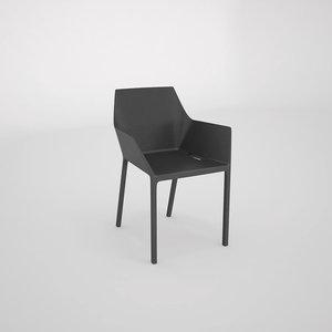 mem chair kristalia 3d dwg