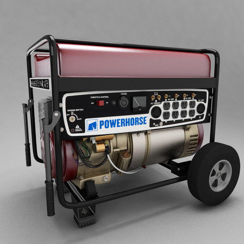 3d powerhorse generator model