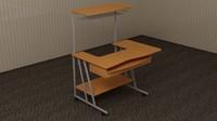 computer table 3d max
