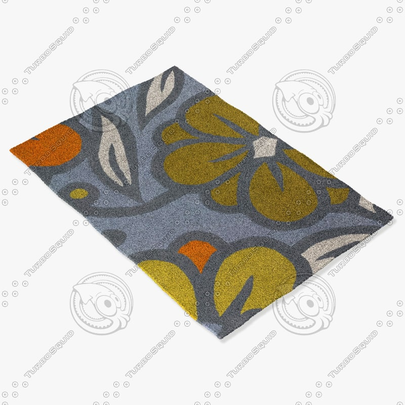 chandra rugs inh-21624 3d 3ds