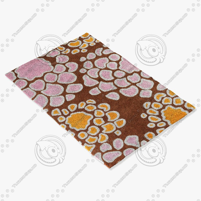 chandra rugs inh-21627 3d model