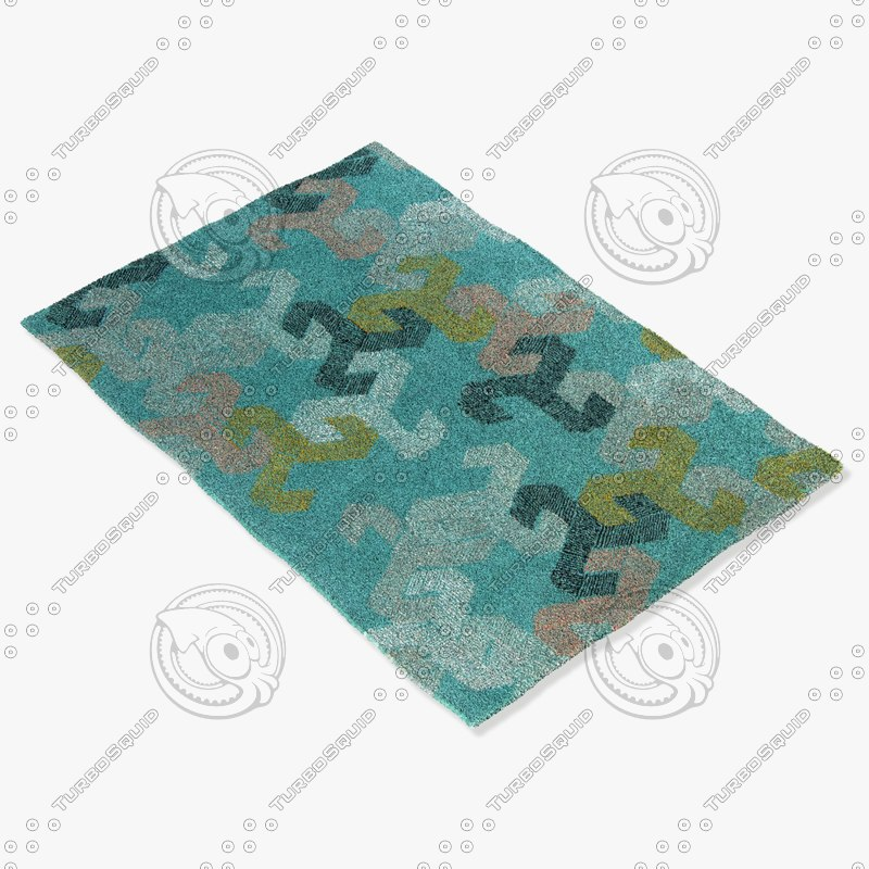 chandra rugs jes-28906 3d model