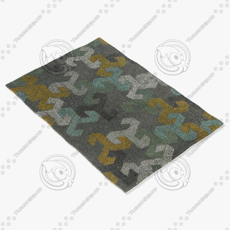 3d model chandra rugs jes-28907