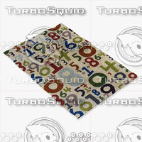 3d chandra rugs kid-7622 model