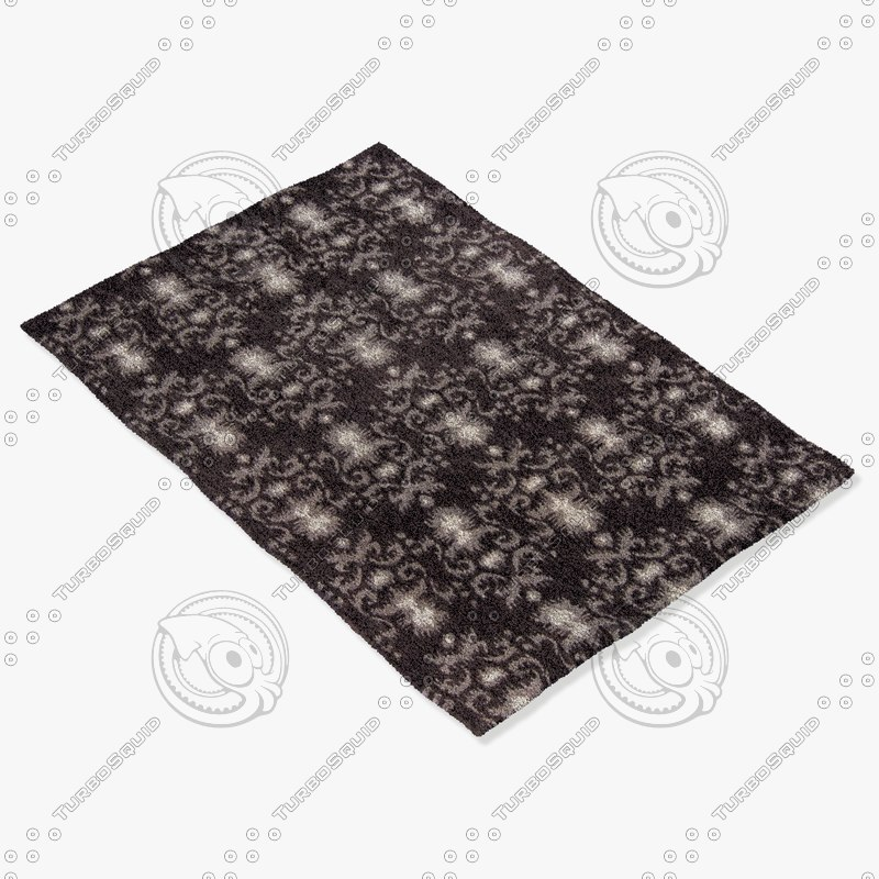chandra rugs lin-32002 3d model