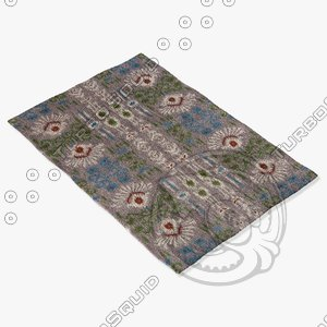 chandra rugs lin-32004 3d max