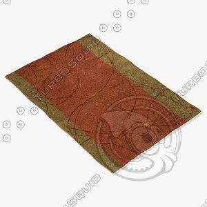 3d model chandra rugs los-1812